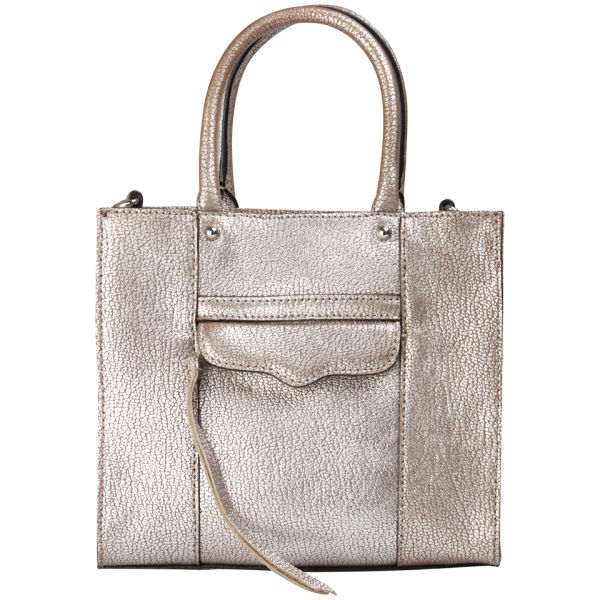 Rebecca Minkoff MAB Mini Leather Tote - Silver
