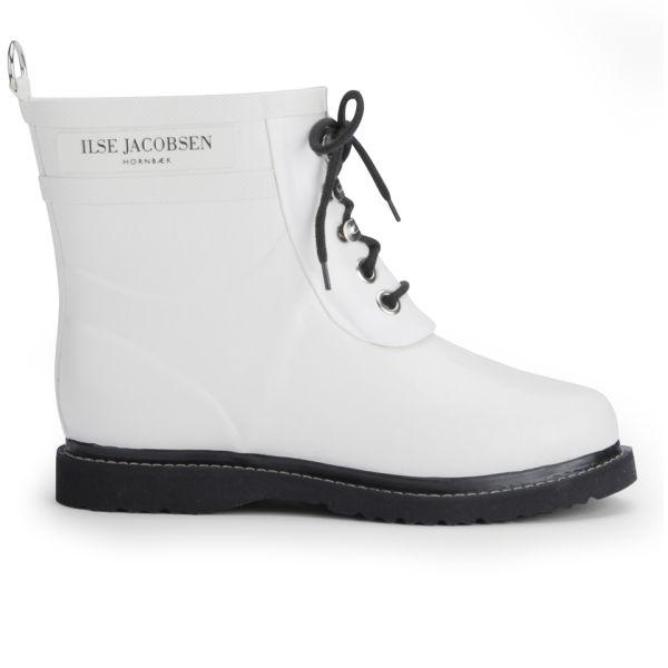 Ilse Jacobsen Women's Short Rubber Boots - White