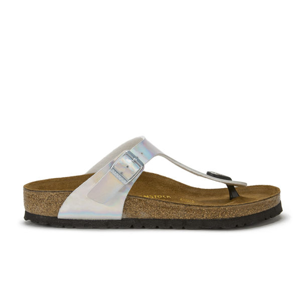 Simple Silver Birkenstock Sandals For Women  Leather Sandals