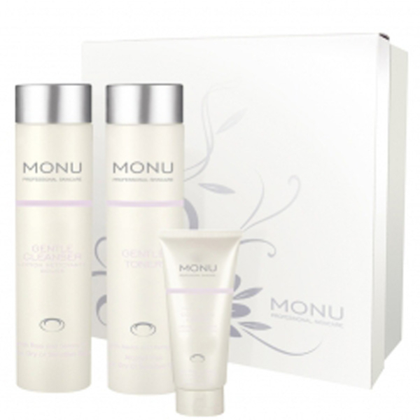 Monu Trio Pack Dry Sensitive Skin 3 Products Free