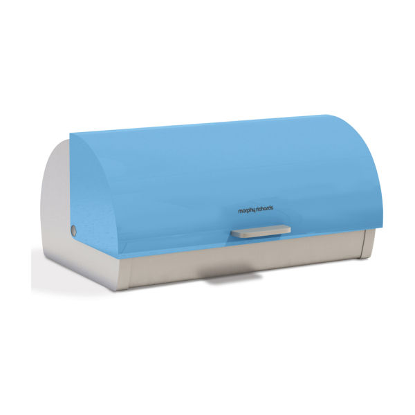 morphy richards accents roll top bread bin blue iwoot. Black Bedroom Furniture Sets. Home Design Ideas