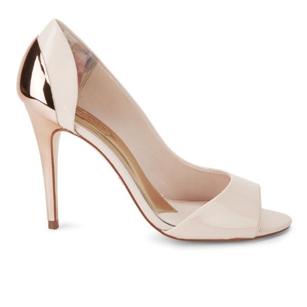 Ted Baker Women's Maceey Patent Leather Peep Toe Heels - Nude