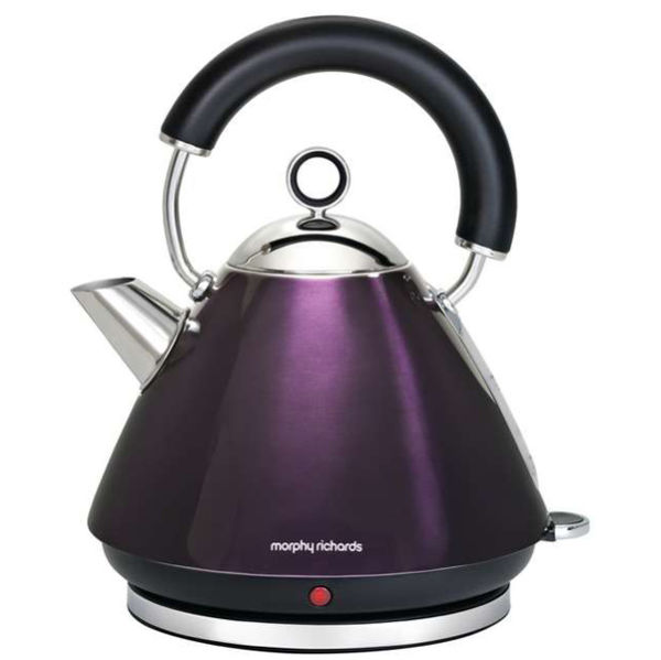 Morphy Richards Kettle: Morphy Richards 43769 Accents Traditional Kettle - Plum - 1.5L