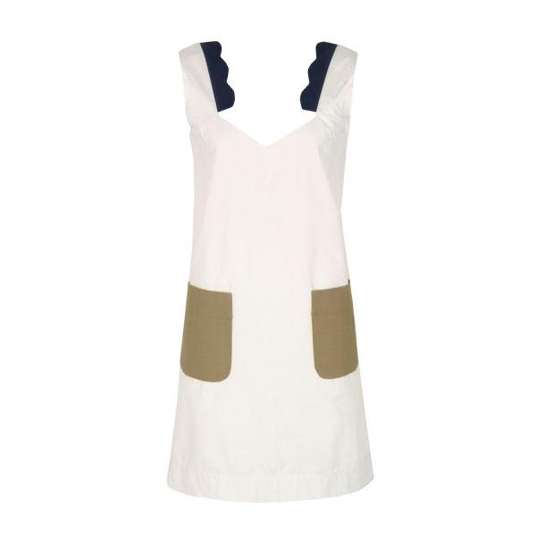 Bolzoni & Walsh Women's DR26 Scalloped Bathing Dress - White