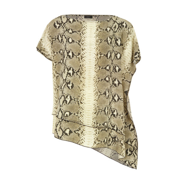 Joseph Women's 3583 Ines Snake Print Silk Top - Stone