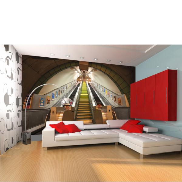 Subway Escalators and Stairs Wall Mural