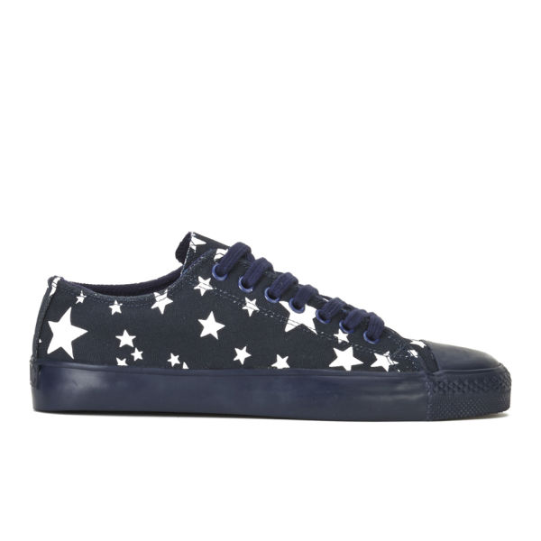 ymc women s star low canvas trainers navy free uk delivery