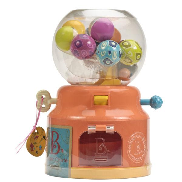 Machine Ball Factory Toy : B sugar chute gumball machine with multicoloured balls