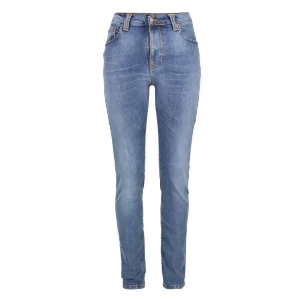 Nudie Women's High Kai 111136 Skinny Jeans - Used Light