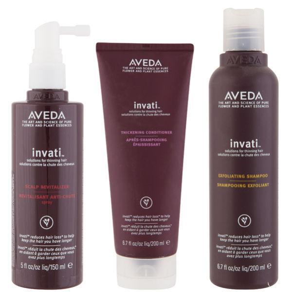 Aveda Haarpflege Trio Invati Shampoo, Conditioner & Scalp Revitalizer