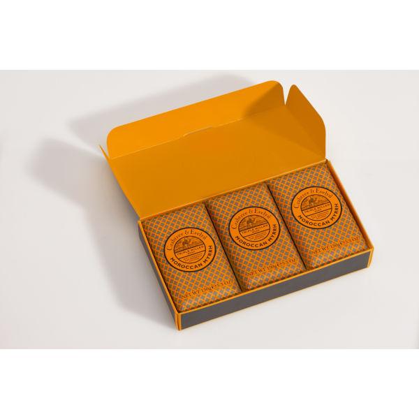 Crabtree & Evelyn Marokkanische Myrrhe Set (Inklusive 3 Seifen) (450 g)