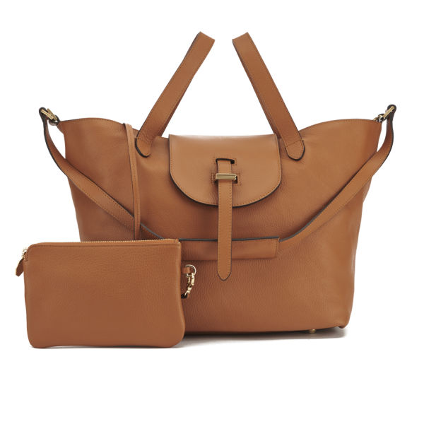 meli melo Women's Thela Classic Leather Tote Bag - Tan