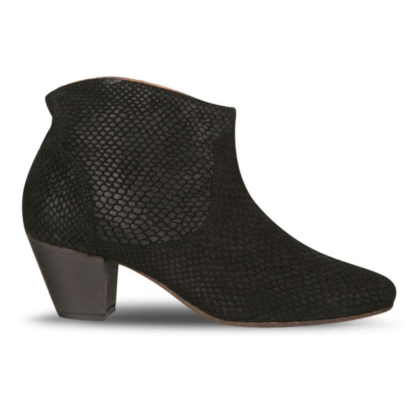 H Shoes by Hudson Women's Mirar Snake Heeled Ankle Boots - Black