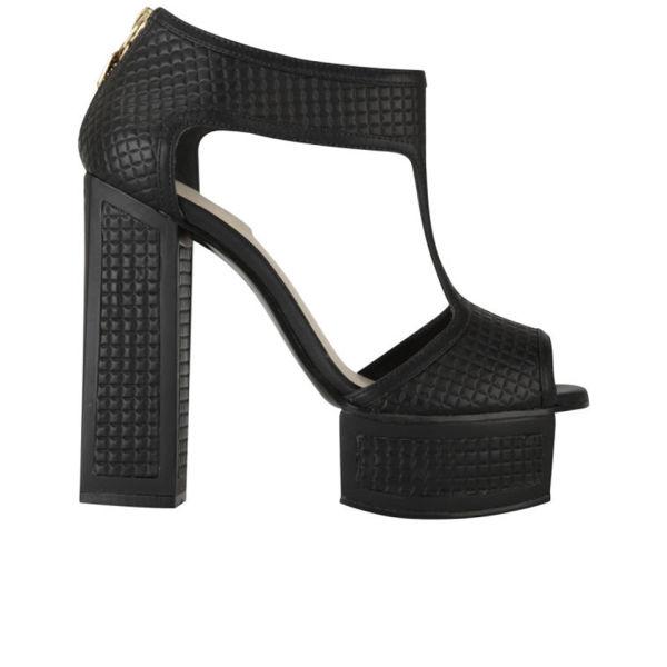 Kat Maconie Women's Abigail Quilted Leather Platform Heels - Black