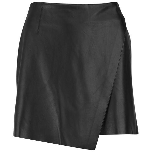 Helmut Lang Women's Leather Mini Skirt - Black