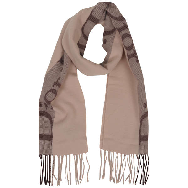 Christian Dior Women's Wool Mix Scarf - Pink