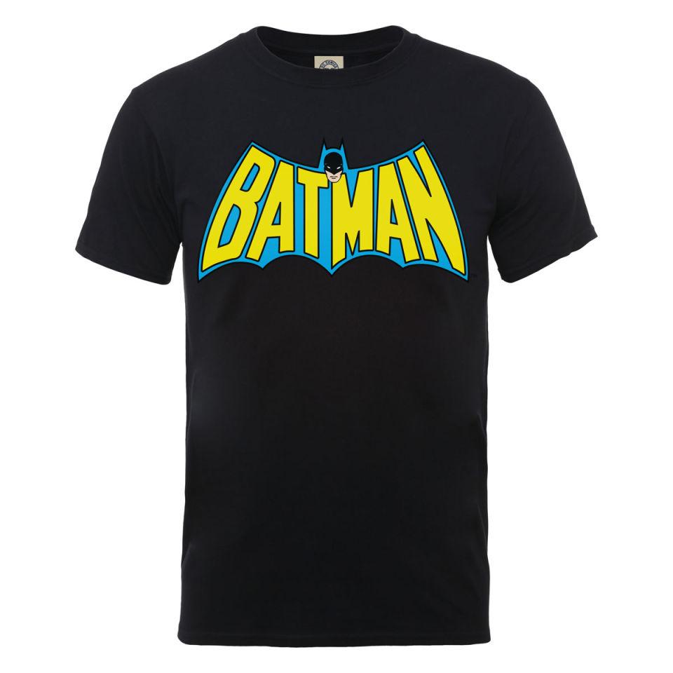 dc comics s t shirt batman retro logo black