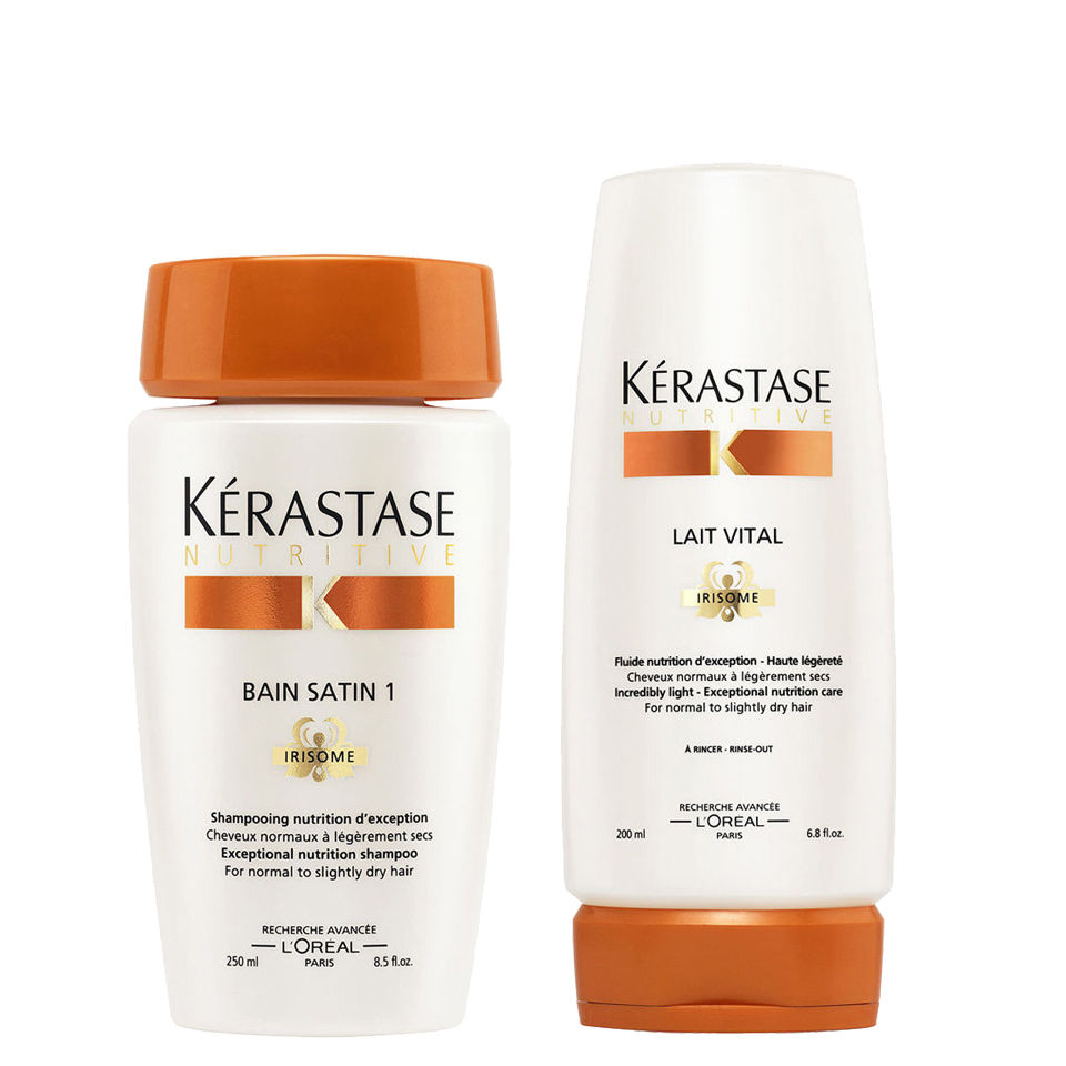 K rastase nourishing shampoo and conditioner for normal to for Kerastase bain miroir conditioner