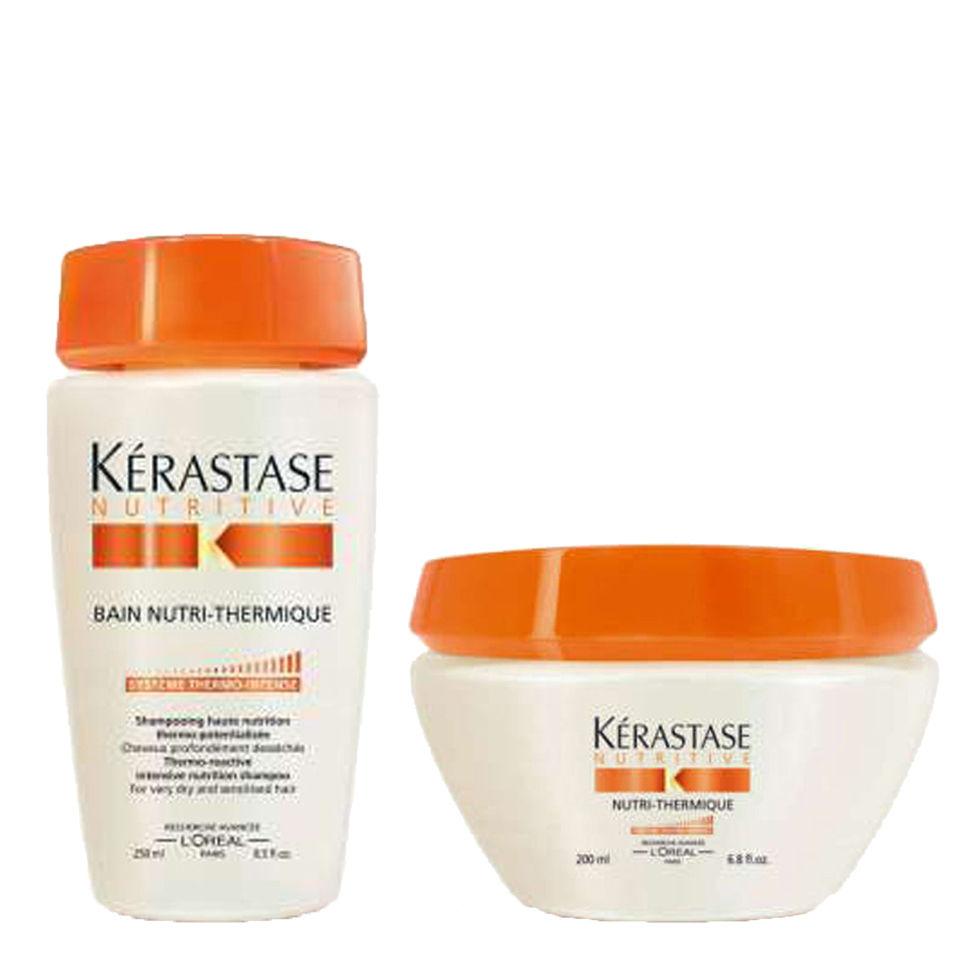 K rastase nourishing shampoo and treatment for very dry sensitised hair duo free shipping - Kerastase salon treatment ...