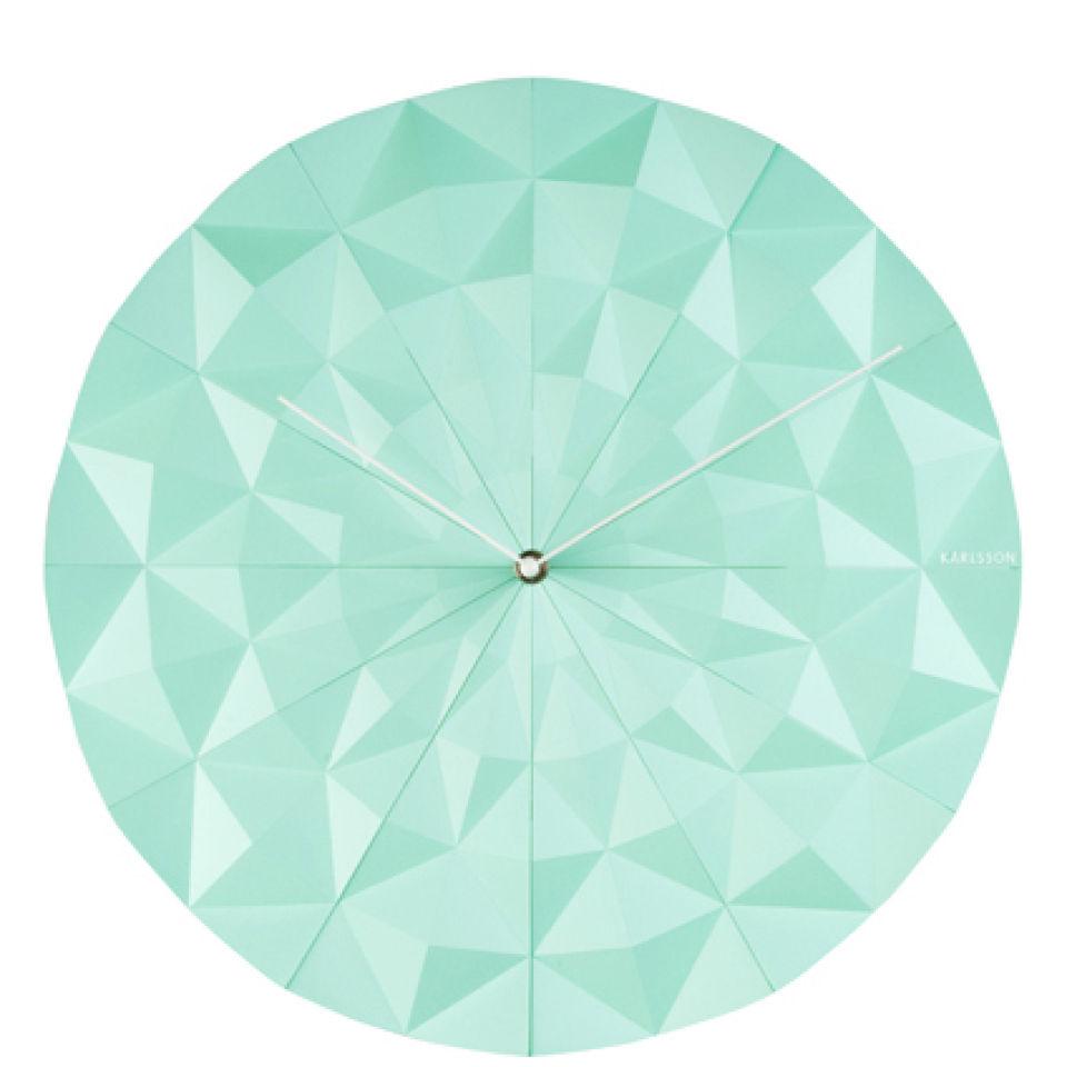 Karlsson Wall Clock Facet Mint Green Iwoot