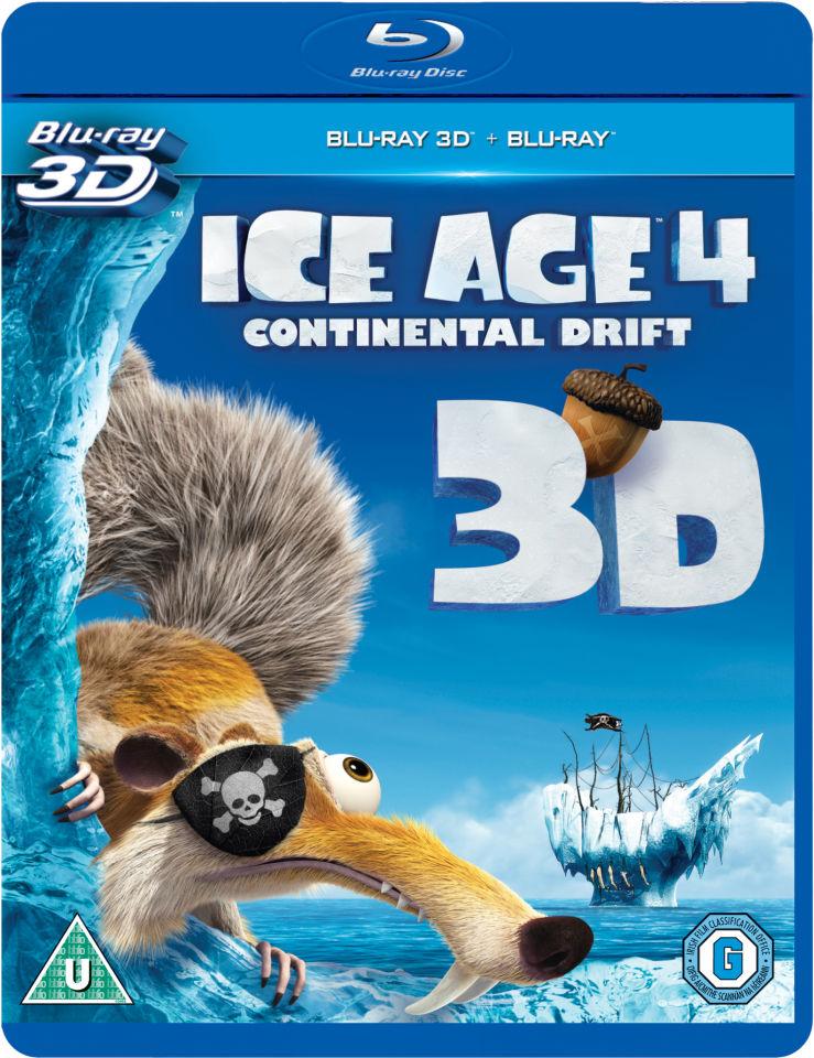 Ice Age 4 Continental Drift 3d Blu Ray Zavvi