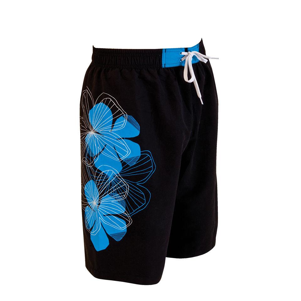 Zoggs Mens Kennedy 21 Inch Swim Shorts BlackBlue Mens