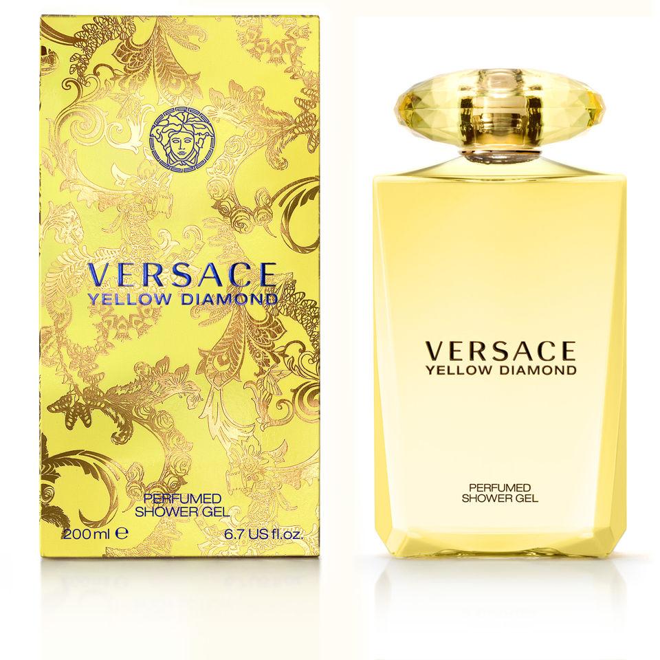 Versace yellow diamond bath shower gel 200ml for Versace bathroom accessories