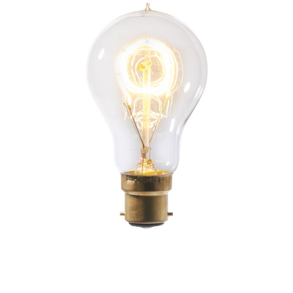 Vintage Light Bulb Standard Quad Loop Filament Bayonet Iwoot