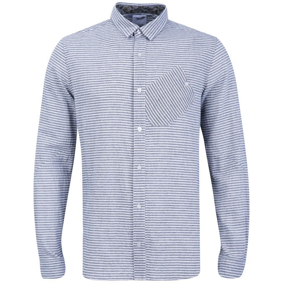 Boxfresh-Mens-Caely-Shirt-Charcoal-Stripe