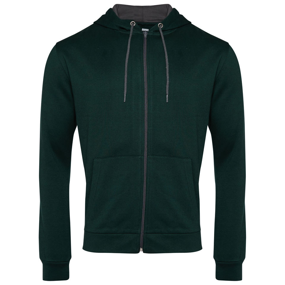 Brave-Soul-Mens-Zip-Through-Hoody-Green-Charcoal-DD7-Size-S-M-L-XL-XXL