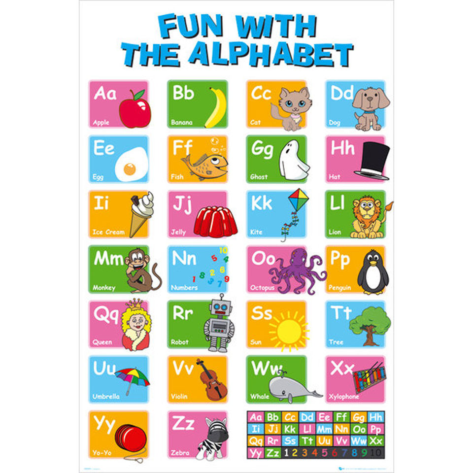 Educational Alphabet Maxi Poster 61 X 91 5cm