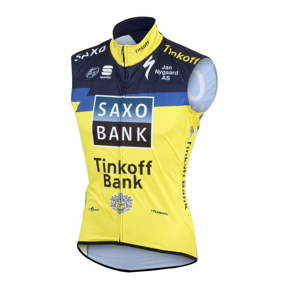 Saxo-Bank-Tinkoff-Bank-Team-Vento-Gilet-2013-Uomini-S-M-L-XL-XXL