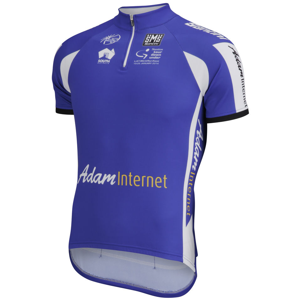 Santini-Mens-Tour-Down-Under-Sprint-2014-Short-Sleeve-Jersey-Blue-Cycling