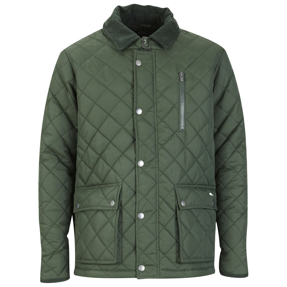 Atticus Men S Quilted Jacket Khaki Clothing Zavvi