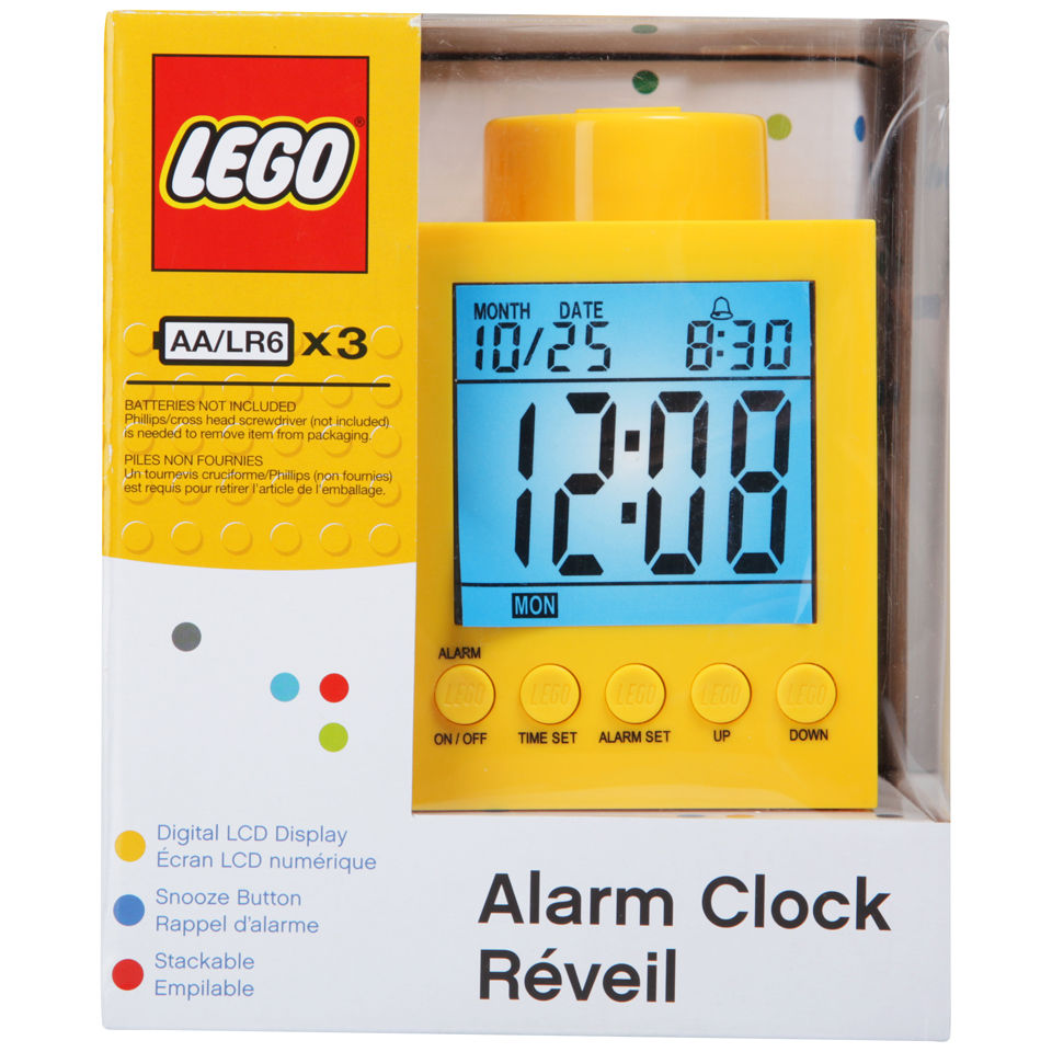 LEGO Alarm Clock - Yellow