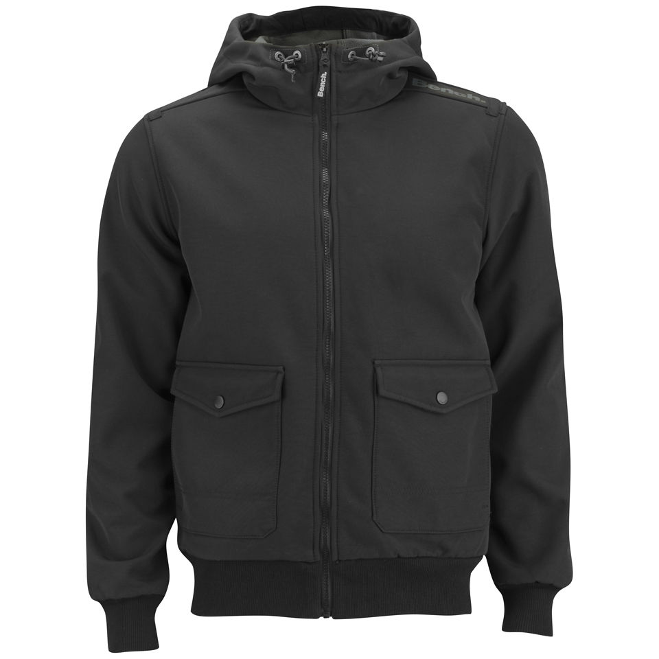 Bench Men's Illude Hooded Jacket - Black Clothing | Zavvi
