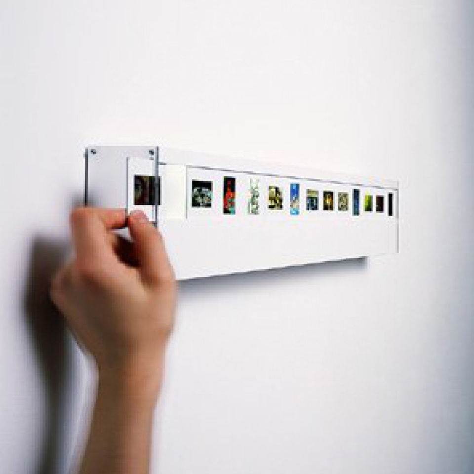 Wall Mounted Lights For Office : Wall Mounted Photo Slide Light with 13 Slide Spaces Traditional Gifts TheHut.com