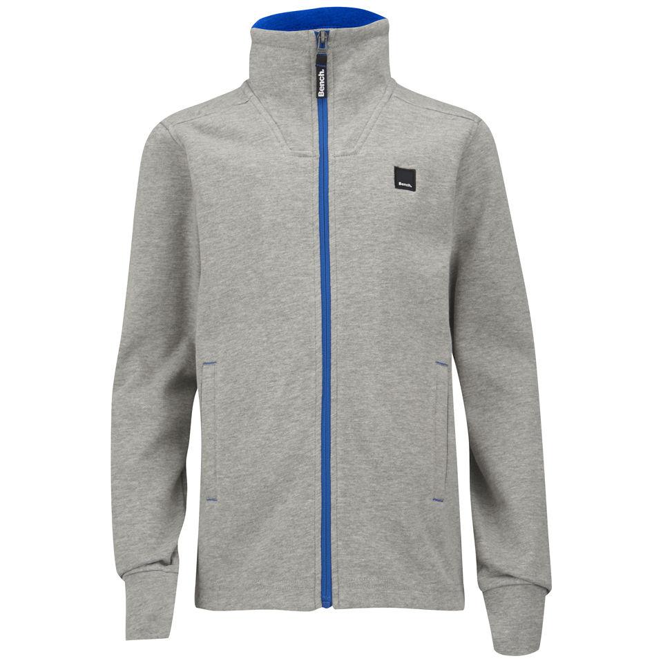 Bench Boys 39 Arid Zip Through Sweatshirt Grey Marl Ebay