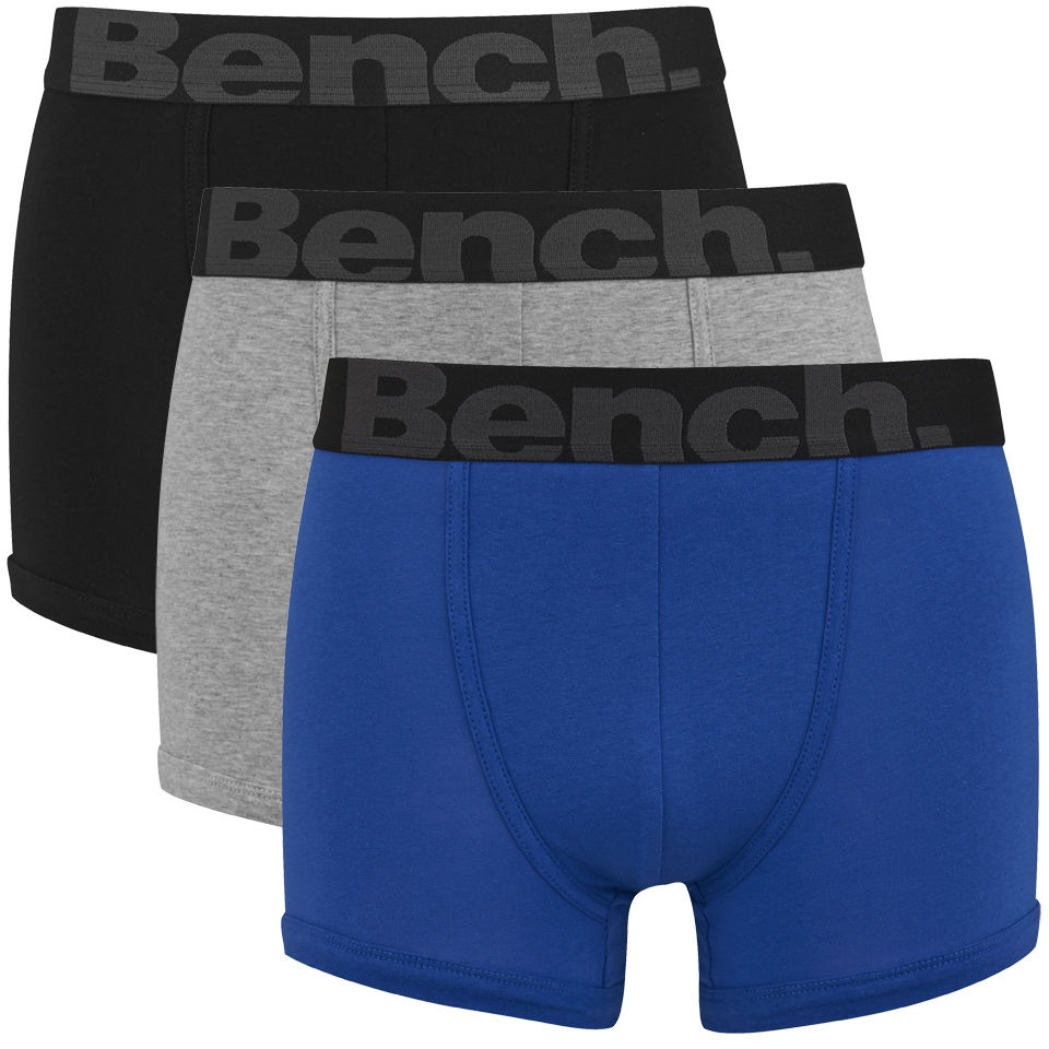 Bench S 3 Pack Fashion Boxers Trunks Blue Black