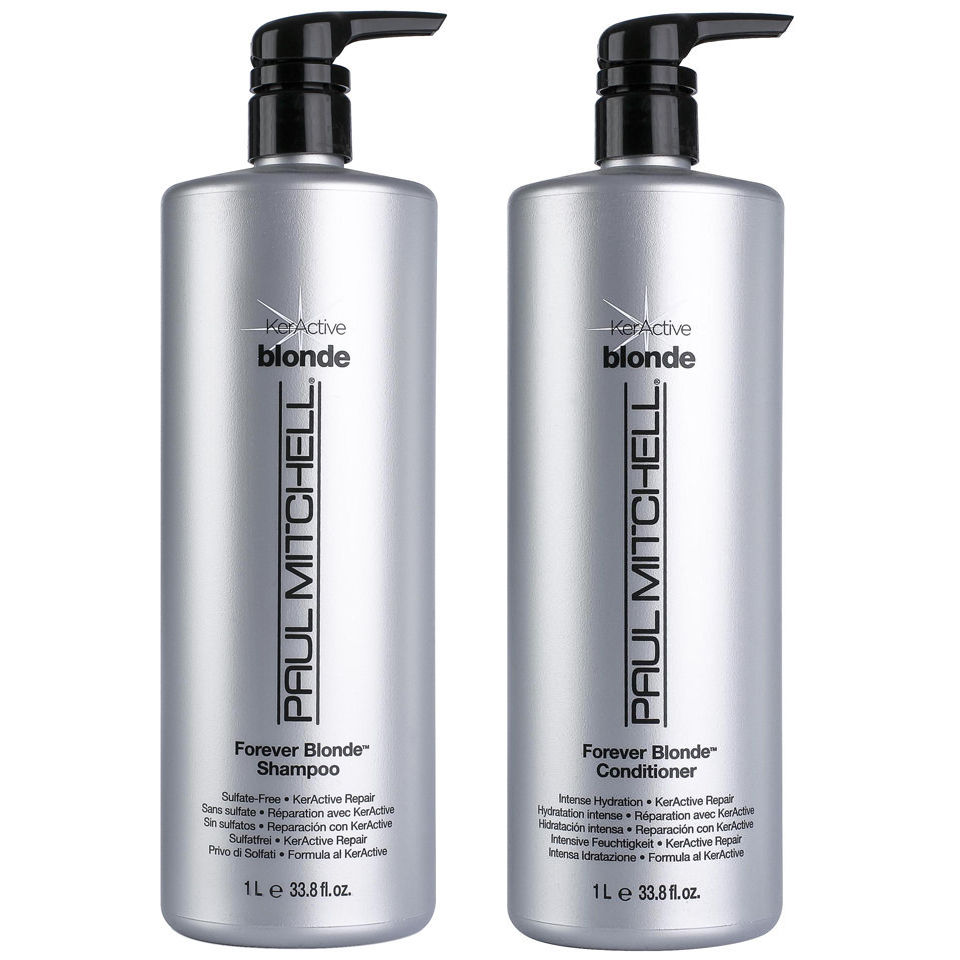 Paul Mitchell Forever Blonde Litre Duo Shampoo And