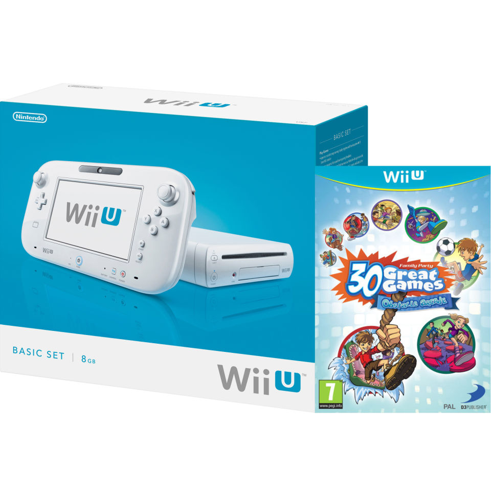 wii u console 8gb basic pack white includes family. Black Bedroom Furniture Sets. Home Design Ideas