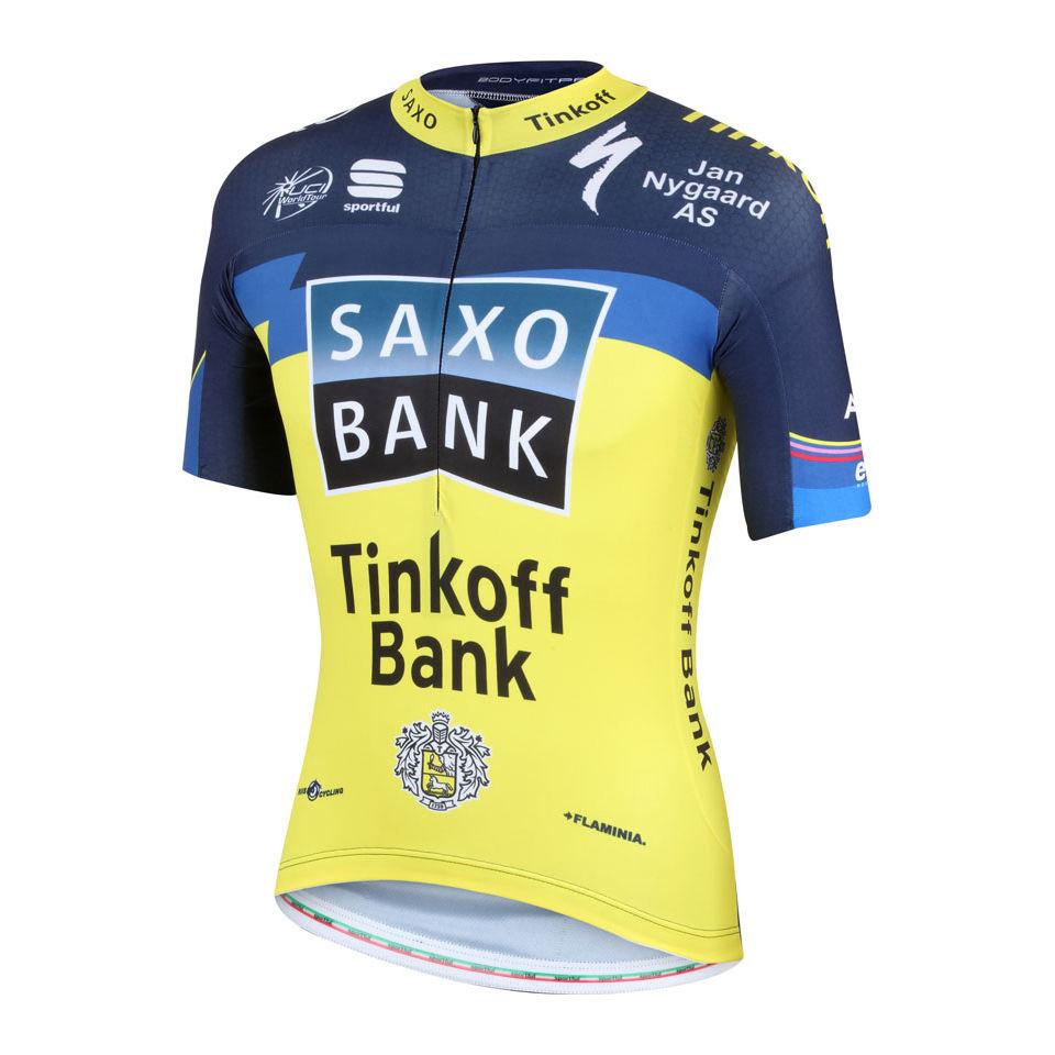 Saxo-Bank-Tinkoff-Bank-Team-Pro-Race-AERO-SS-Jersey-2013-Uomini-S-M-L-XL-XXL