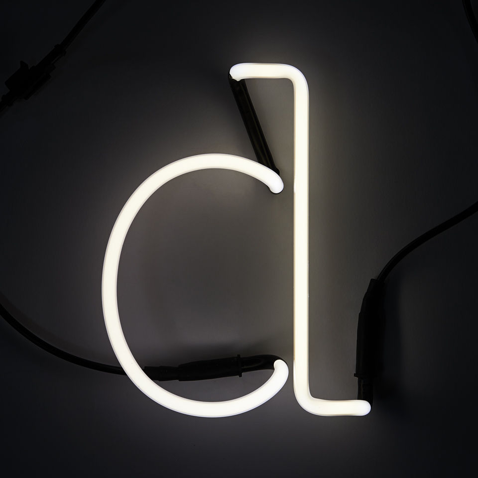 Seletti Neon Wall Light Letter D Iwoot