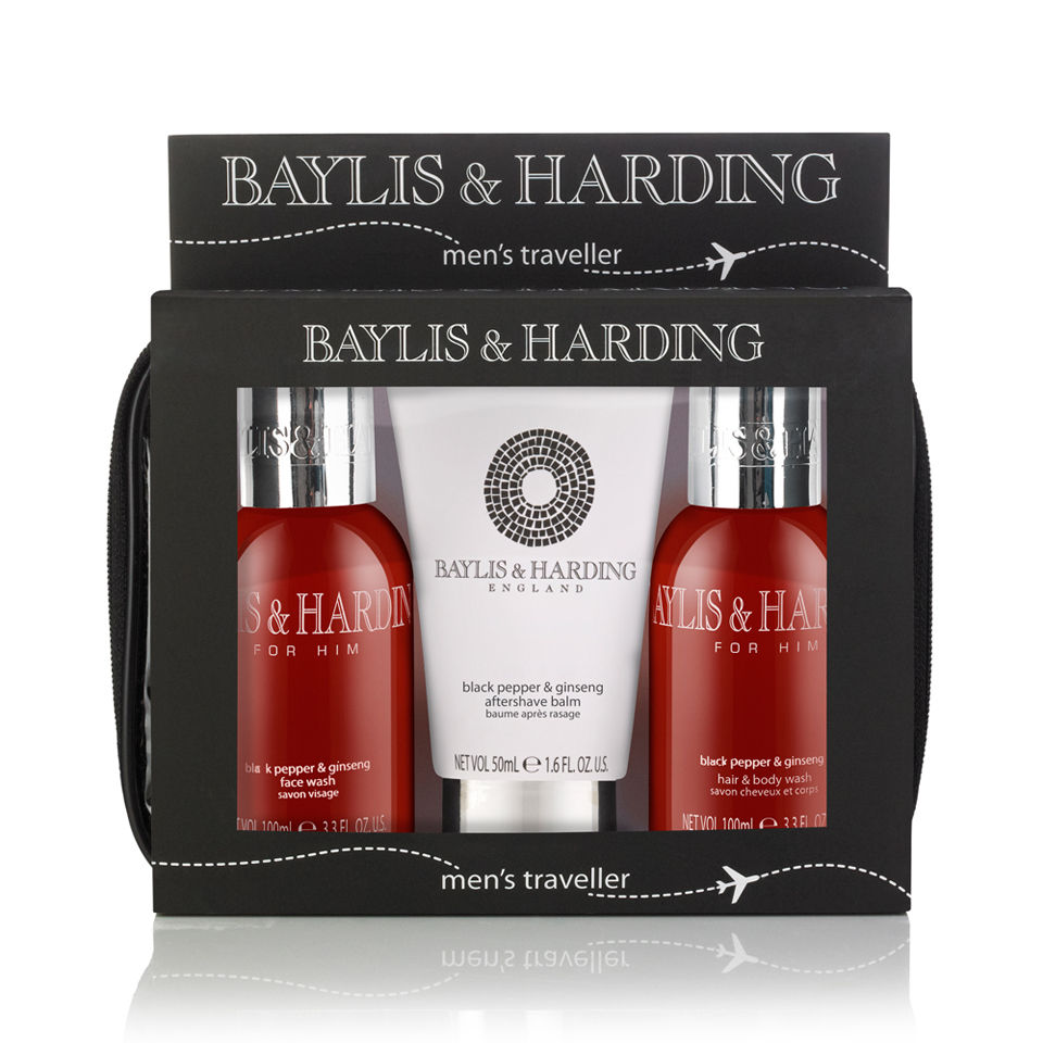 Baylis & Harding Black Pepper and Ginseng Wash Bag - Hair