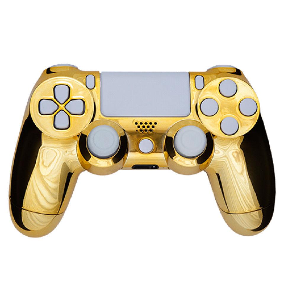 PlayStation DualShock 4 Custom Controller - Chrome Gold ...