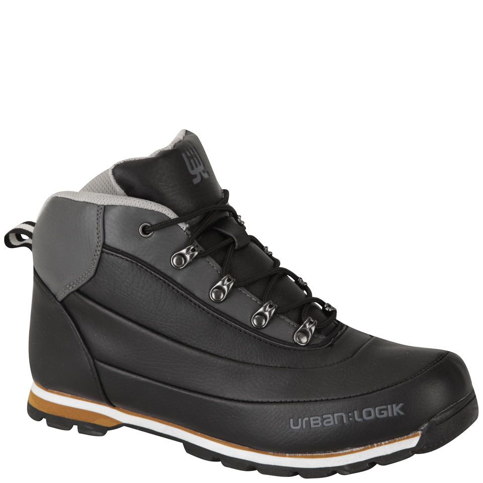 Urban Logik Men S Darwin Boots Black Charcoal Mens