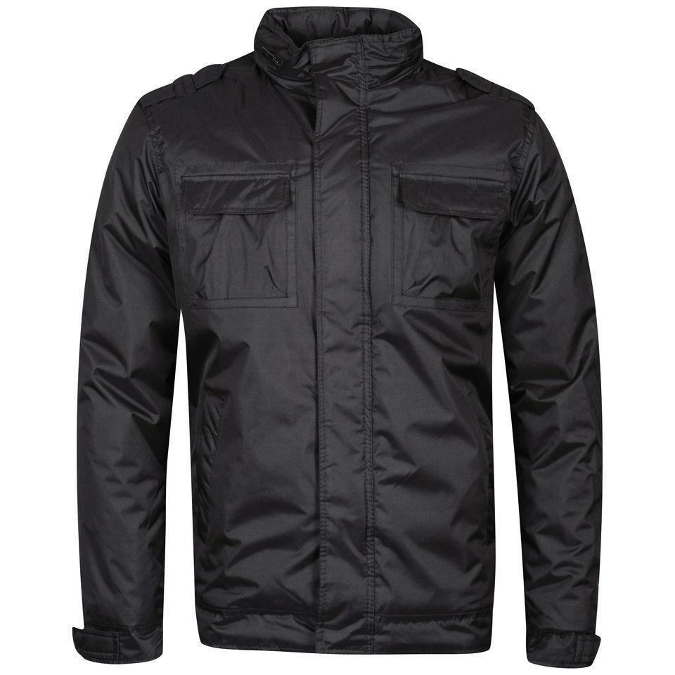 brave soul men 39 s equipment jacket charcoal clothing zavvi. Black Bedroom Furniture Sets. Home Design Ideas