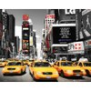 New York Times Square Yellow Cabs - Mini Poster - 40 x 50cm: Image 1