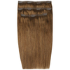 Beauty Works Deluxe Clip-In Hair Extensions 18 Inch - Caramel 6: Image 1