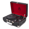GPO Retro Attache Briefcase Style Three-Speed Portable Vinyl Turntable with Free USB Stick and Built-In Speakers - Black: Image 1